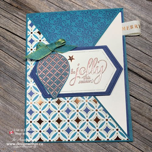 VIDEO How to make a diagonal crossover fun fold card
