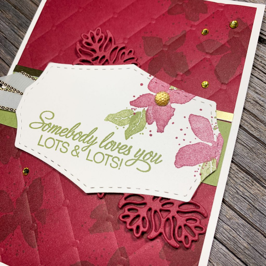 Make Holiday Cards with Rubber Stamps - Just About ANY Stamps Like Parcels & Petals from Stampin Up!