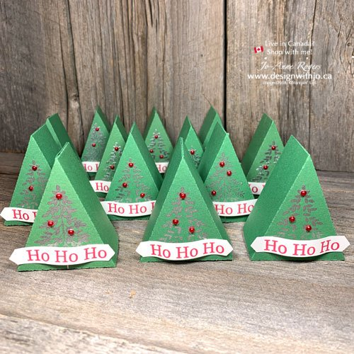 Make a Mini Christmas Tree Table Favour - or a whole forest with my template pdf!