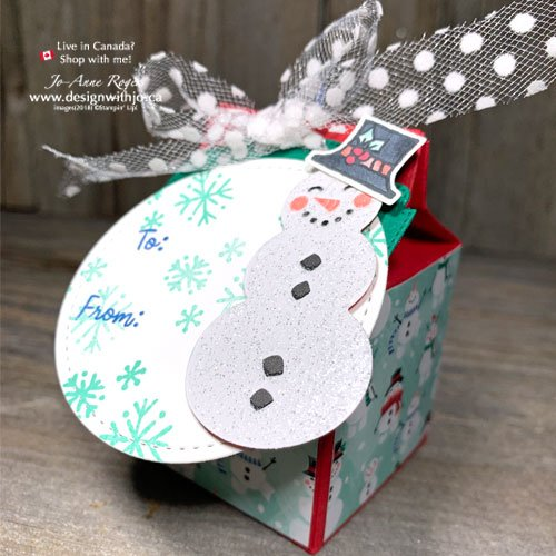VIDEO Tutorial to Make a Last Minute Mini Milk Carton Favour Box with Let It Snow DSP
