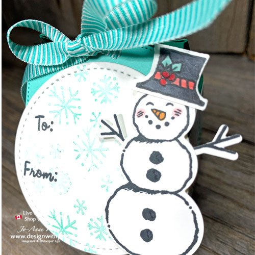 Quick VIDEO to Make Last Minute Mini Milk Carton Favour Box with Let It Snow Suite from Stampin Up