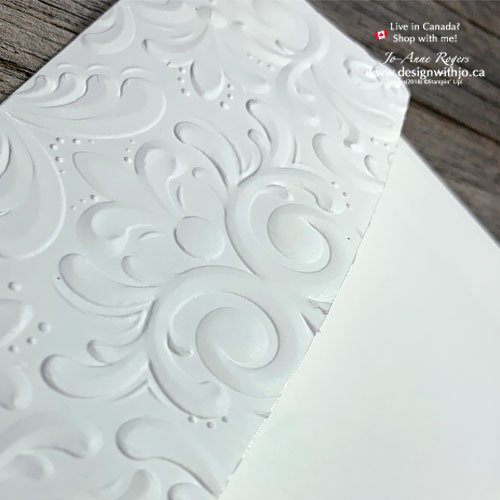There are So Many Ways to Decorate An Envelope like This One with your Parisian Flourish 3D Embossing Folder