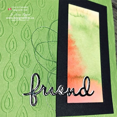 Bright and Bold Card for a Friend Made from Scraps with Well Written Dies from Stampin' Up!