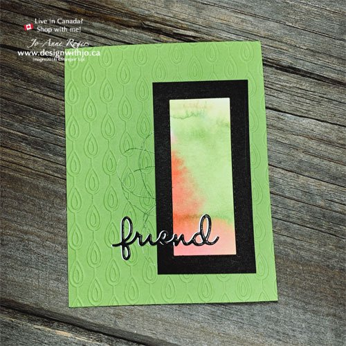 Beautiful Bold Card for a Friend Made from Scraps and the Well Written Dies from Stampin Up