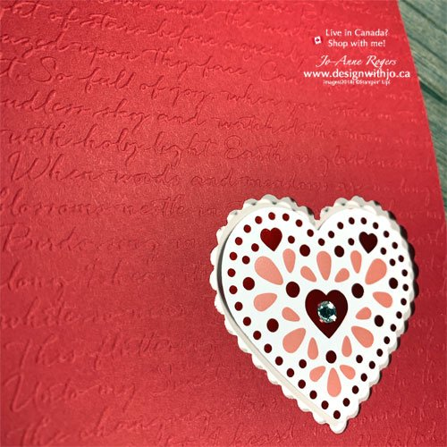 Learn How to Dry Emboss a One Layer Card with my Jo-TIPS Video and the Scripty Embossing Folder