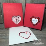 Make a Peek Through Heart Card for Valentines with the Heart Punch Pack from Stampin