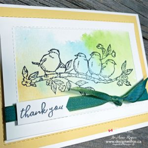 So Simple Watercolour Thank You Note