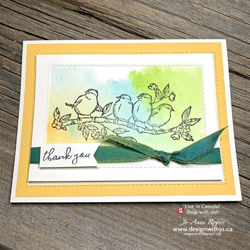 See My Tips for this Watercolour Thank You Note made with Free as a Bird stamps from Stampin' Up!