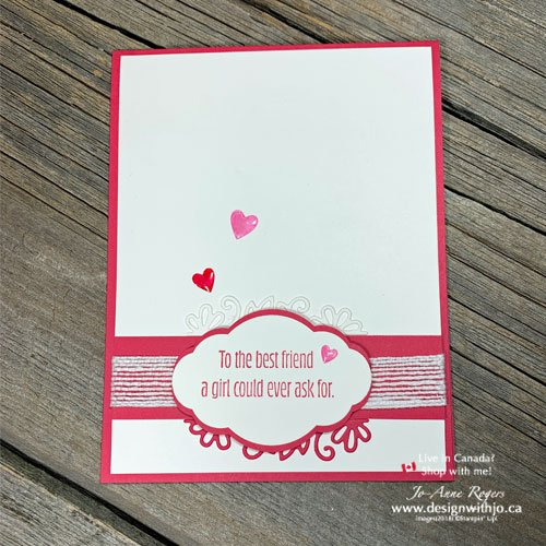 I LOVE This Best Friend Valentines made with the Be Mine Dies