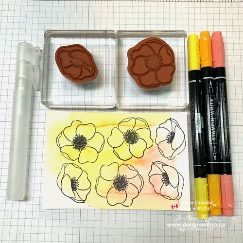 What You Need to Watercolour Rubber Stamped Poppies