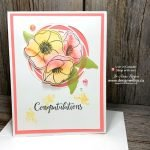 Create Easy Watercolour Rubber Stamped Poppies with Painted Poppies and Stampin Write Markers