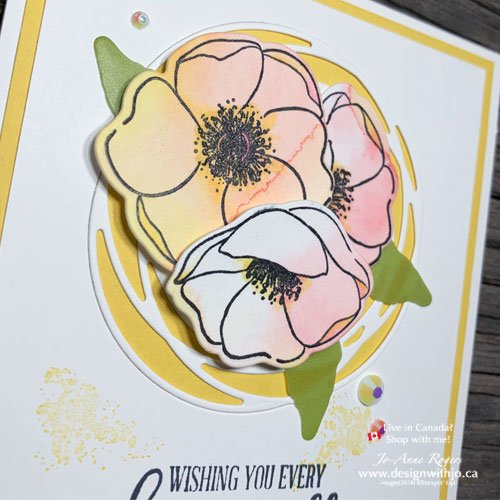I LOVE to Use Stampin Write Markers to Watercolour Rubber Stamped Poppies