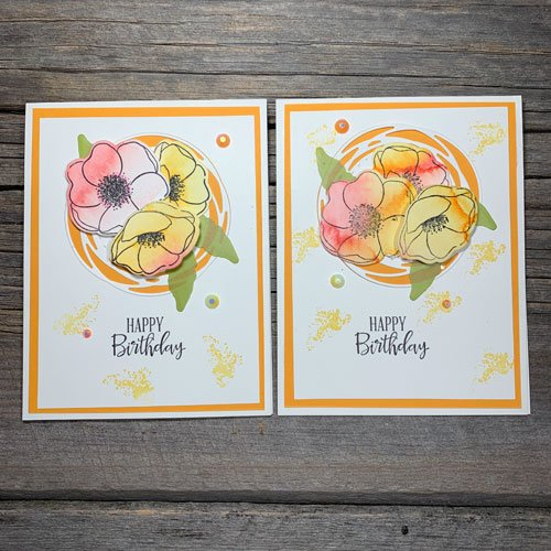 Learn to Watercolour Rubber Stamped Poppies for Beautiful Cards
