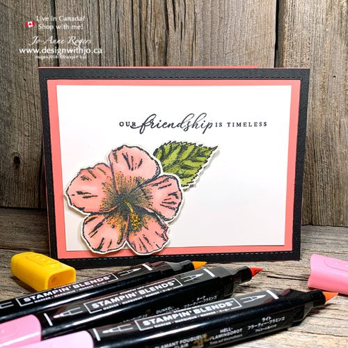 What's the Difference Between Stampin Write and Stampin Blends Markers? See it with the Tropical Oasis Hibiscus!