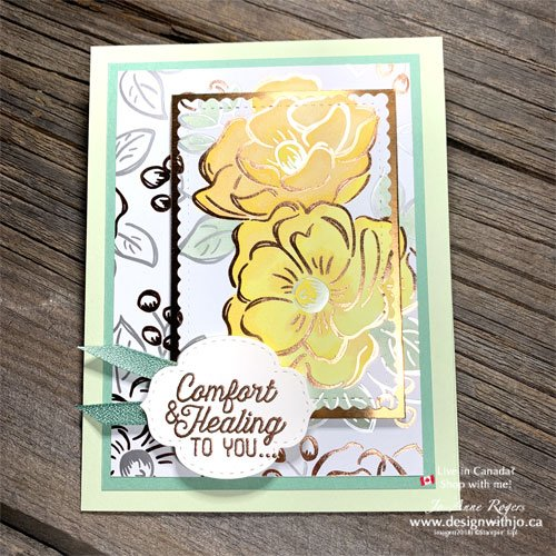 Create Awesome Cards When You Colour Patterned Paper with Alcohol Markers from Stampin Up!