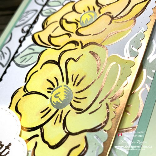 Colour Patterned Paper with Alcohol Markers Like This Flowering Foils Rose