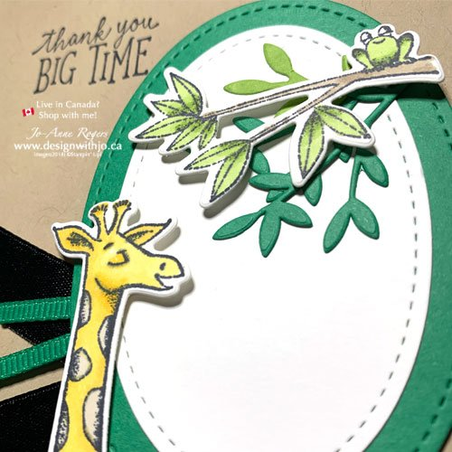 Oh So Cute Hand Stamped Giraffe Card with Animal Outing from Stampin Up!