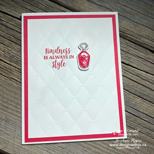 Learn how to make a shiny embellishment for card making with a couple simple supplies!