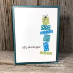 Get All the Steps for This Quick and Easy Two Step Rubber Stamped Birthday Card