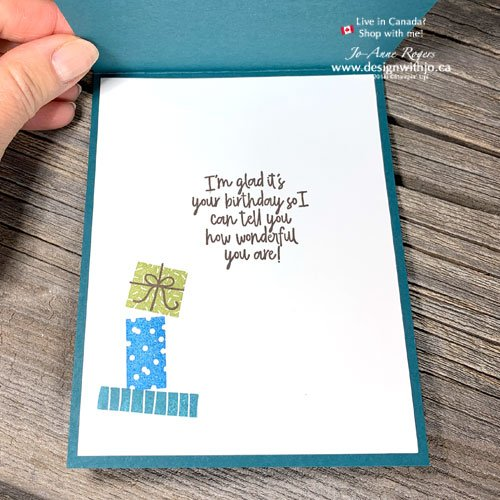 I LOVE This Fun and Quick and Easy Two Step Rubber Stamped Birthday Card