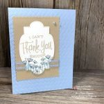 You Can Make This Simple Handmade Thank You Card Made With the So Sentimental Bundle and Painted Poppies Stamp Set from Stampin