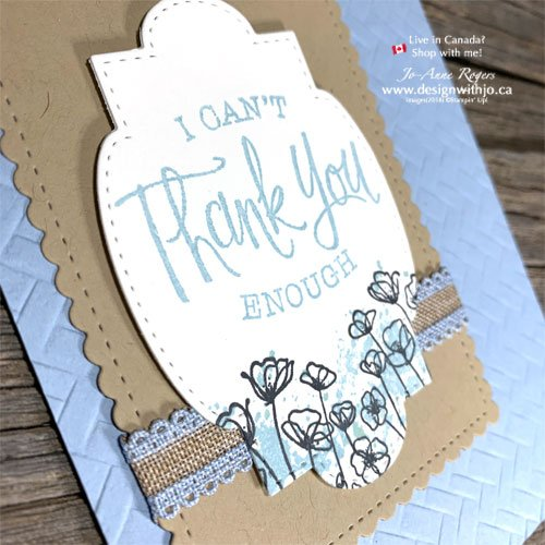 I LOVE This Simple Handmade Thank You Card