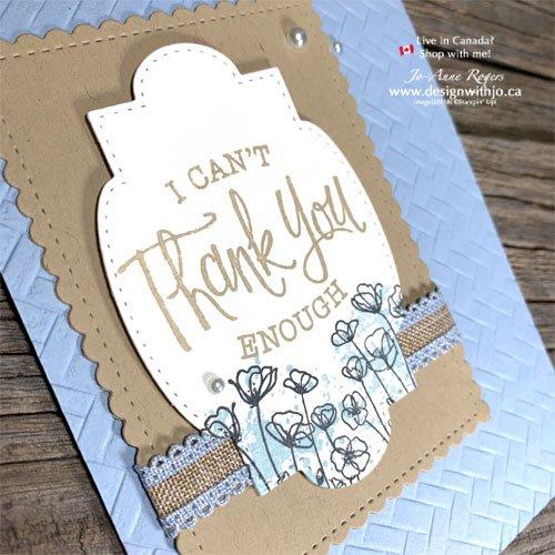 Oh So Simple Handmade Thank You Card