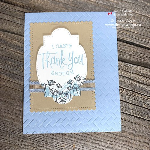 Simple Handmade Thank You Card with the Stitched So Sweetly Dies and So Sentimental Stamps