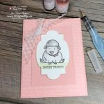 Beginner Watercolouring Cute Handmade Card Idea for Stamp Pad Ink Refills and Aqua Painter