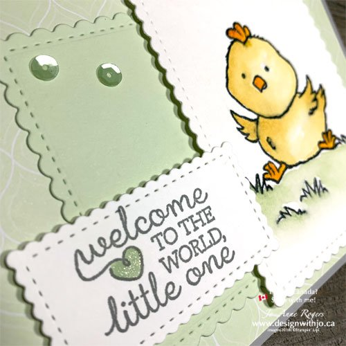 Cute Handmade Card Idea with Stamp Pad Ink Refills Using Welcome Easter stamps!