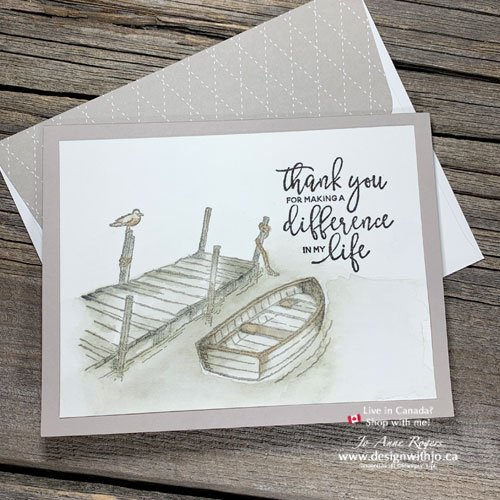 I LOVE This Simple Handmade Masculine Card Made with Stampin Up By the Dock Stamps and Ink Refills