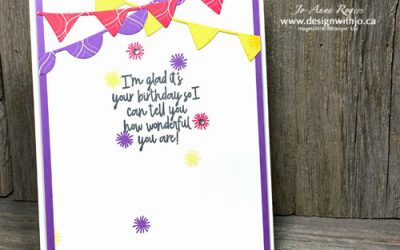 Simple Rubber Stamped Birthday Card