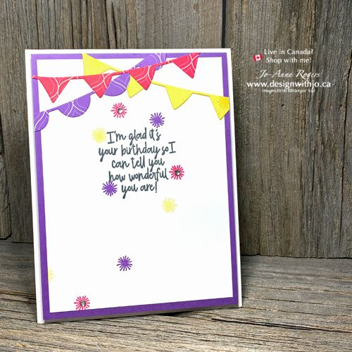 Bright and Cheery Simple Rubber Stamped Birthday Card