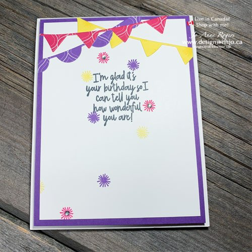 Simple Rubber Stamped Birthday Card with Birthday Bonanza stamps from Stampin Up!