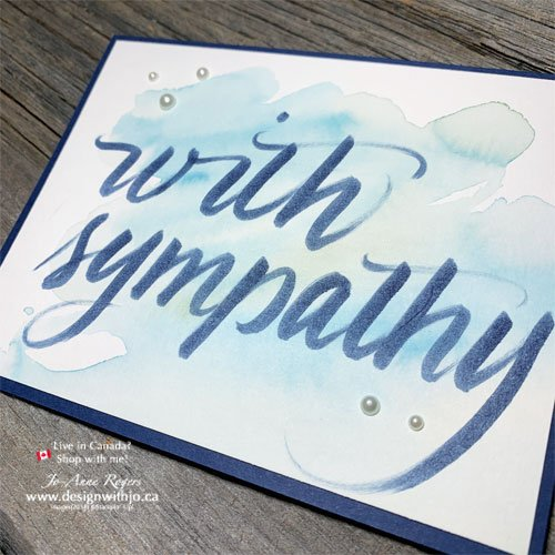Learn Online How To Use Stampin Write Brush Marker Letters on Watercolour Cards in my Online Class