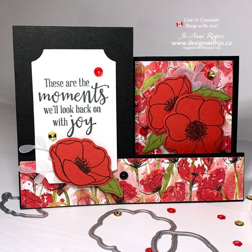 Flower Greeting Card Ideas with Painted Labels and Peaceful Poppies Designer Series Paper