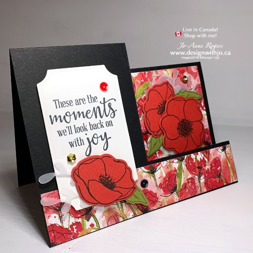 Stunning Flower Greeting Card Ideas with Peaceful Poppies DSP from Stampin Up!