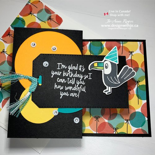 Fun Birthday Card for Boys with Birthday Bonanza Stamps from Stampin Up!