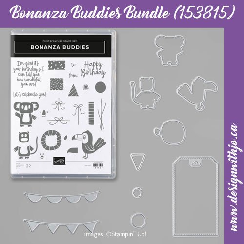 Oh So Fun Birthday Card for Boys with Bonanza Buddies from Stampin Up!