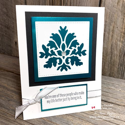 Beautiful Handmade Die Cut Cards for Friends with Tasteful Textures from Stampin Up!