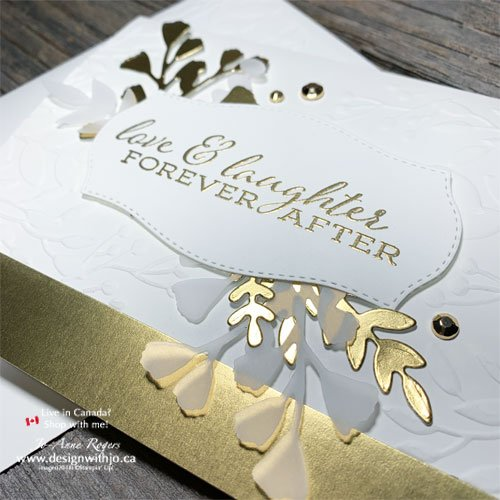 DIY Elegant Wedding Card Made with Rubber Stamps