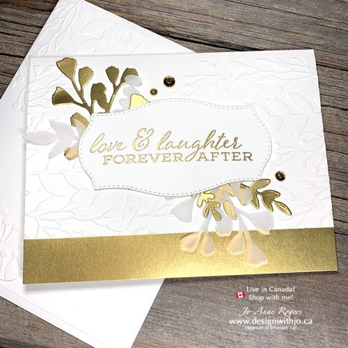 DIY Elegant Wedding Card Made with Dry and Heat Embossing