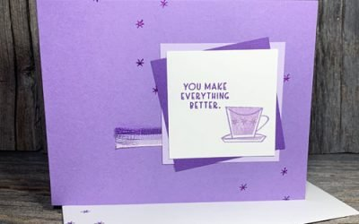 Simple Rubber Stamped Handmade Card