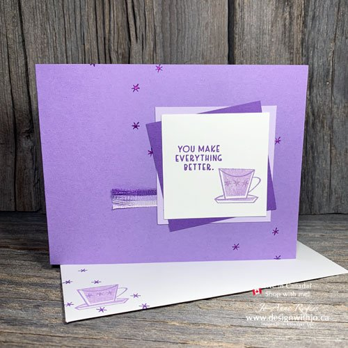 Let's Make a Simple Rubber Stamped Handmade Card with the Nothing's Better Than Stamps from Stampin' Up!
