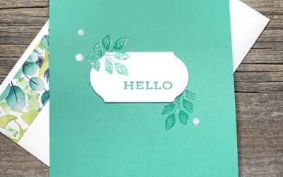 Whats the Simplest Heat Embossed Handmade Card You Can Make? |VIDEO