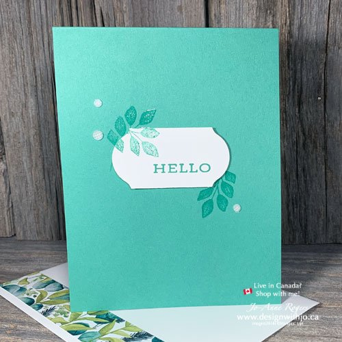 QUICK VIDEO for Whats the Simplest Heat Embossed Handmade Card You Can Make?