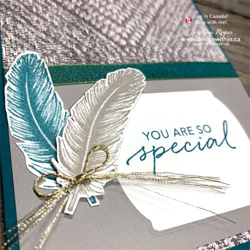 Cardmaking with Patterned Paper and Tasteful Touches stamps from Stampin Up!